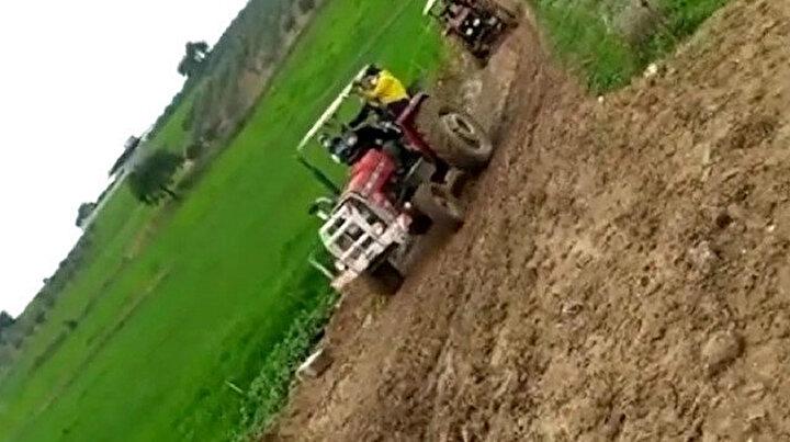 Tapulu arsam deyip yolu kapattı: Sağlıkçılar ölmek üzere olan vatandaşa traktörle ulaştı