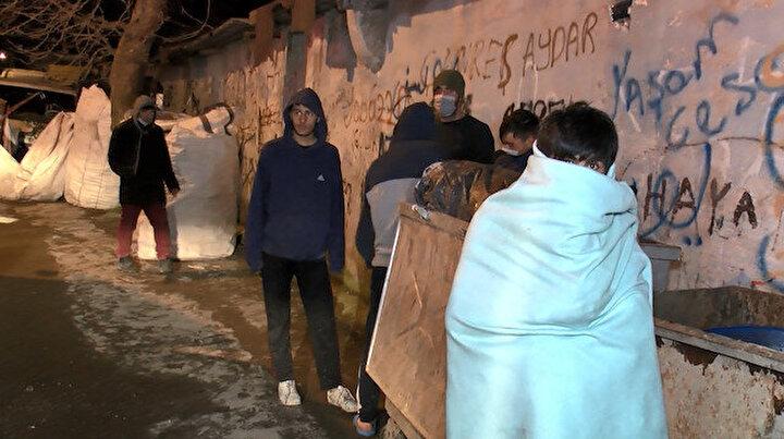 Maltepede işçilerin kaldığı konteynırda yangın çıktı: Paramız her şeyimiz yandı!