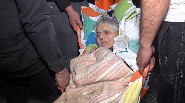 Yangında can pazarı: 86 yaşındaki felçli kadın son anda kurtarıldı