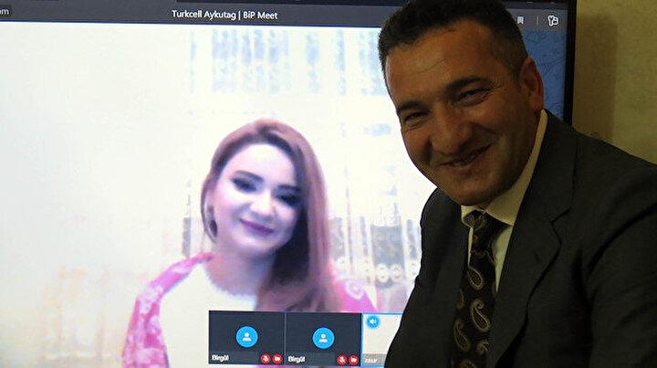 Erzurum'dan Azerbaycan'a online nişan töreni