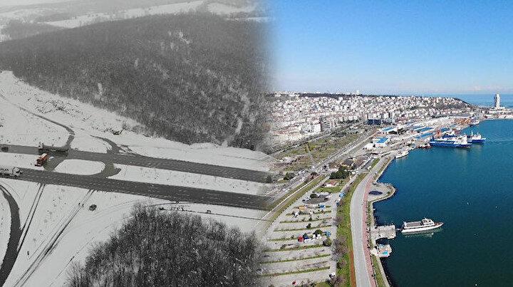 Şehrin merkezi bahar bahçe kırsalı ise 30 santimetreyi aşan kar