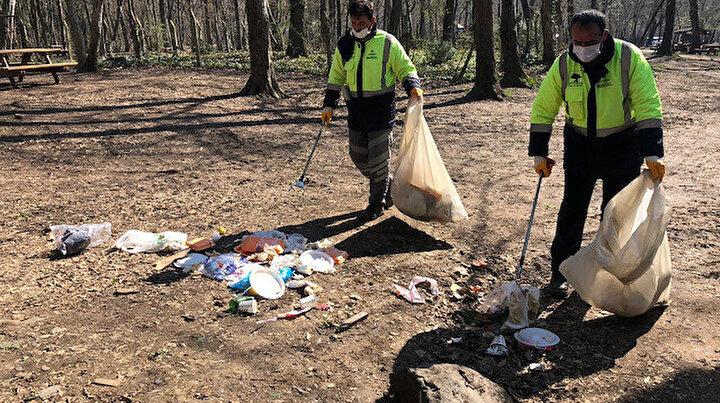 Belgrad Ormanına piknikçi akını: 10 ton çöp toplandı