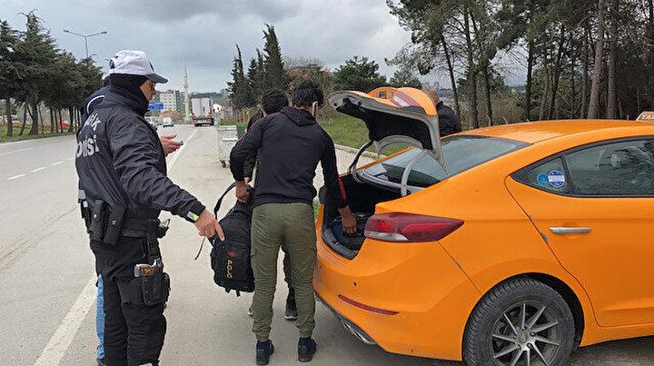 Taksiyle Ankaradan Trabzona gideceklerdi: Kaçak göçmenler Samsun polisine takıldı