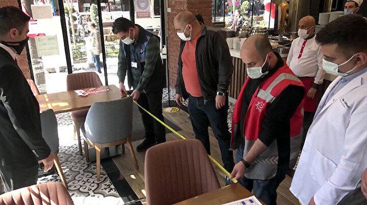 Avcılarda metreli denetim: Kafe, lokanta ve restoranlarda tek tek ölçtüler