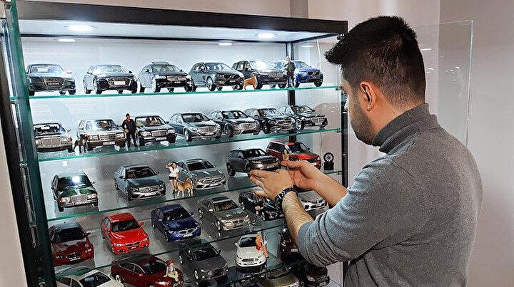 100 bin liralık maket otomobil koleksiyonu: Türkiyenin dört bir yanından topladı
