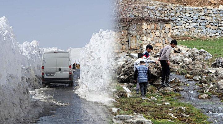 Bir tarafta bahar bir tarafta kara kış: Arası sadece 20 kilometre