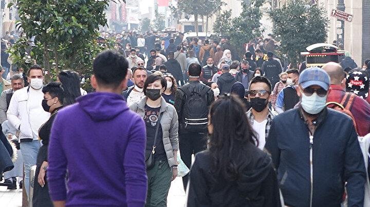 İstiklal Caddesinde turist yoğunluğu