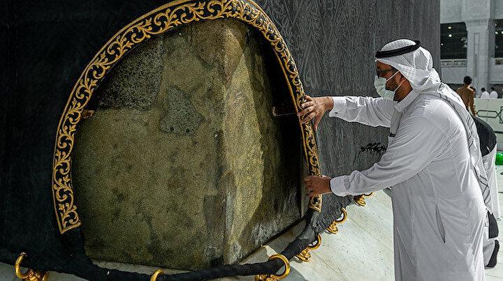 Ramazanın yaklaşmasıyla Kabe örtüsünün bakım çalışmaları başladı