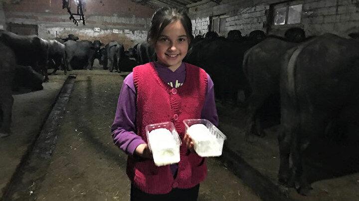 Bu mahallenin geçimi manda sütü ve kaymağında: Kilosu 100 liradan satılıyor