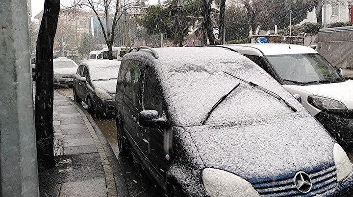 İstanbul'un kapısına dayandı: Tekirdağda kar yağışı etkili oldu