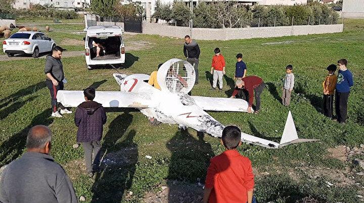 Osmaniye'de garip bir olay: Hava aracı düştüğünü duyan koşup geldi