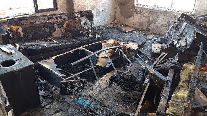 Kocaelide korkunç olay: Yangında ölen kişinin elleri ve ayakları zincirle bağlanmış