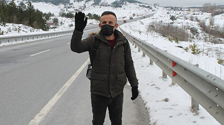 Sesini duyurmak için Kastamonudan İstanbula yürüyor: 1 günlük evlilik yüzünden 4 yıldır ödenen nafaka