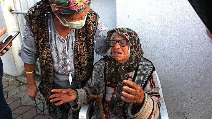 Yaşlı çift yanan evlerini gözyaşları içinde izledi: Osman patates pişiriyordu ev tutuştu