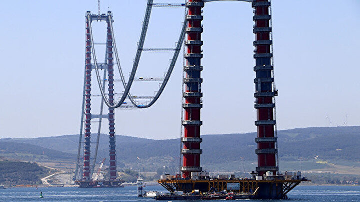 1915 Çanakkale Köprüsünde ana halatlar tamamlanıyor: Dünyanın etrafını 4 kez dolaşacak uzunlukta tel kullanılacak