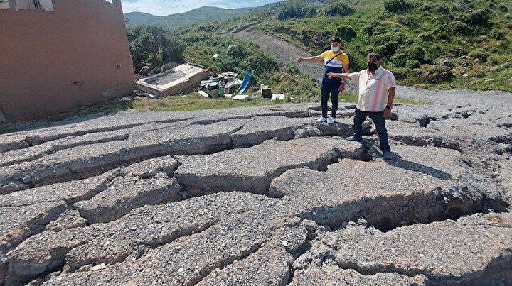 İzmirde korkutan yarıklardan 6 ev tahliye edildi: Neler olduğunu kimse bilmiyor