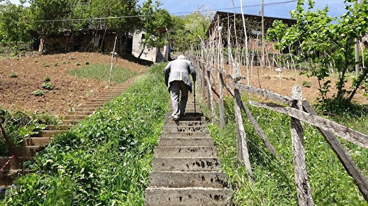 Komşuların inat merdivenleri: Aralarında 1 metre mesafede 2 merdiven yaptılar