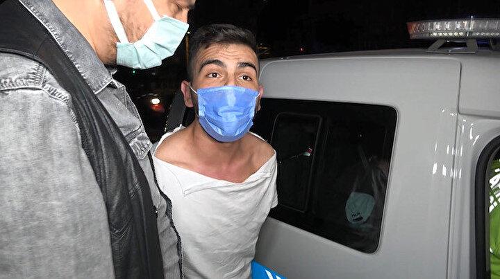 Polisten kaçıp kaza yaptı yakalanınca basın mensuplarına saldırmaya çalıştı