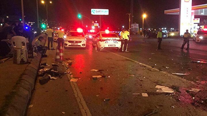 Alkollü sürücü dehşet saçtı: Biri polis üç kişi yaralandı