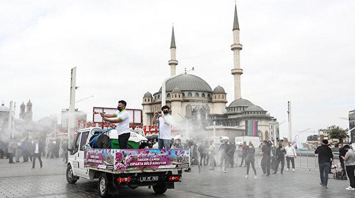 Taksim Camii açılışı öncesi son hazırlıklar
