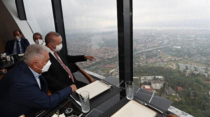 Cumhurbaşkanı Erdoğan Çamlıca Kulesini gezdi