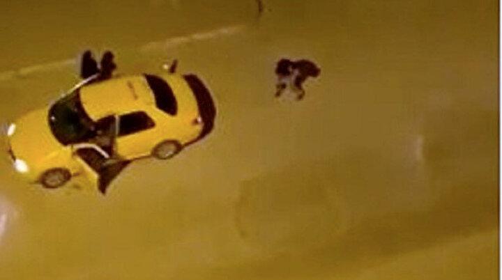 Taksi içinde kadınla tartışıp şoföre kurşun yağdırdı