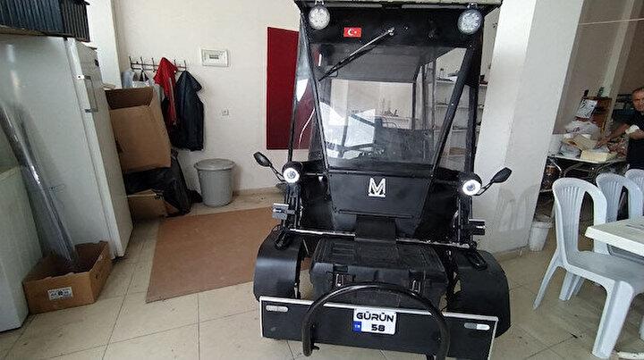 Sivas'ta üretildi: Bu elektrikli otomobil kendi kendini şarj ediyor