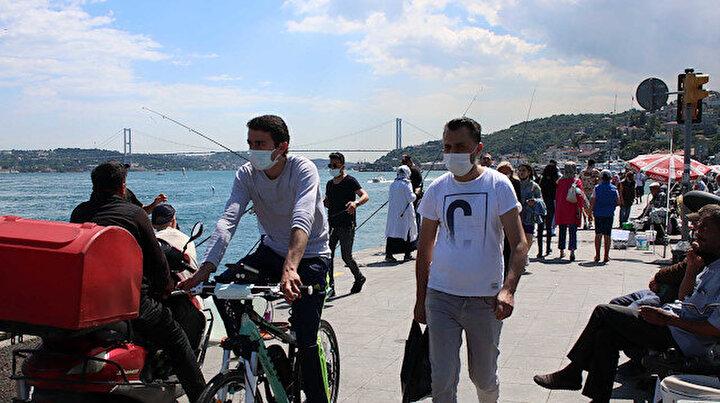 Yasaklar bitince sokaklar doldu: Beşiktaşta sahillerde yoğunluk