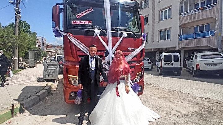 TIR gelin aracı oldu: TIRla gelmezsen bu düğün olmaz dedi ben de kıramadım