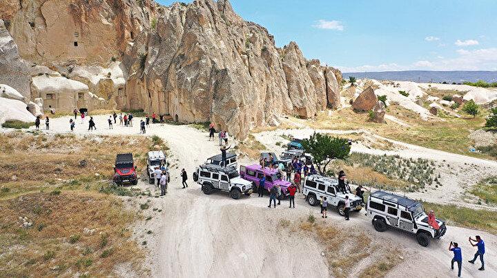 Türkiyenin göz bebeği Kapadokyada kontrollü normalleşme ile hareketlilik artıyor
