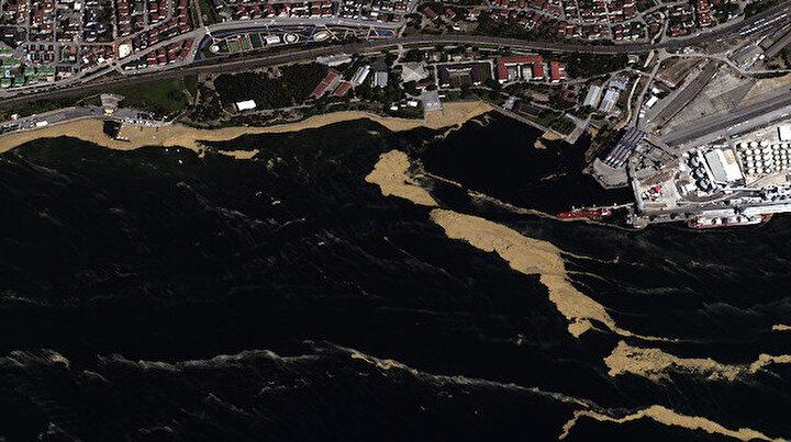 Marmara Denizindeki müsilaj uzaydan görüntülendi