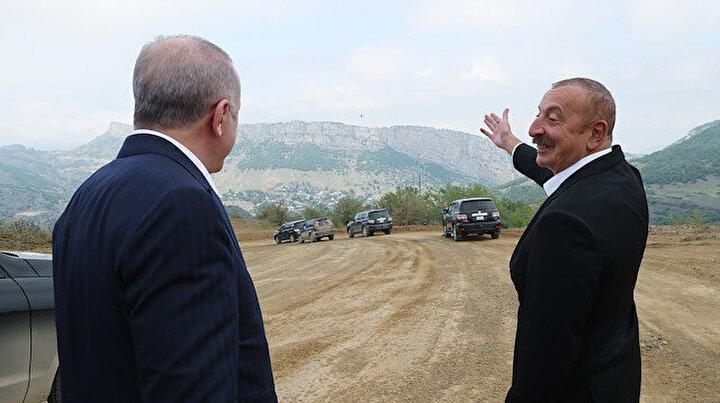 Cumhurbaşkanı Erdoğan ile Aliyev Şuşa'da buluştu