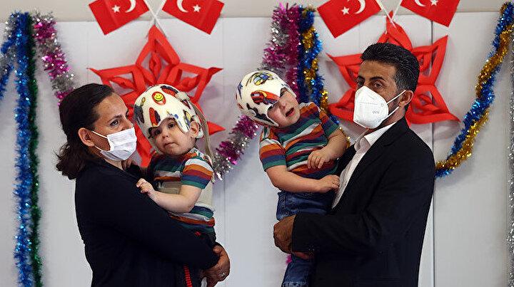 Kafaları yapışık dünyaya gelmişlerdi: Cumhurbaşkanı Erdoğan himayesinde operasyonla birbirlerinden ayrılan siyam ikizleri 3 yaşında