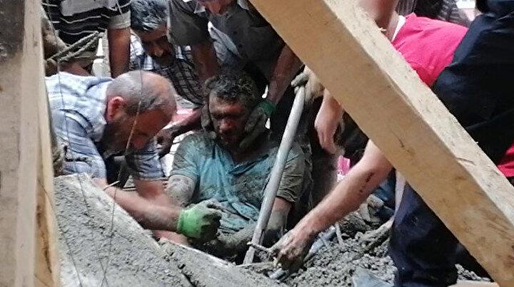 Erzurumda cami inşaatında çökme: Üç işçi enkaz altından çıkarıldı