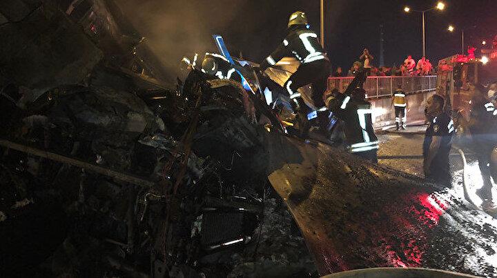 Manisada korkunç kaza: Alev alan kamyonun sürücüsü yanarak hayatını kaybetti