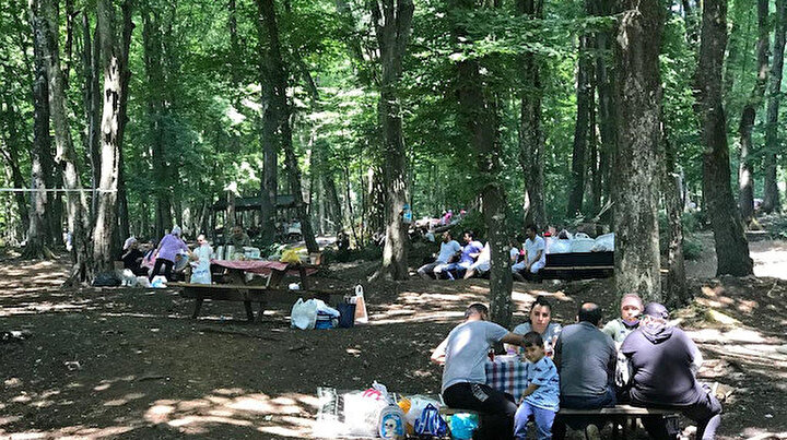 Belgrad Ormanına piknikçi akını