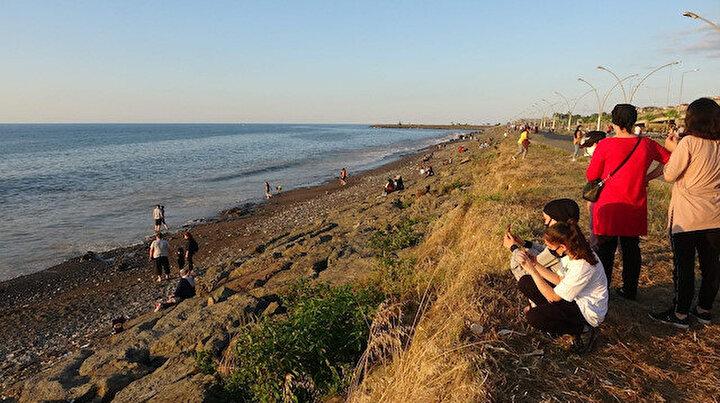 40 yıl önce kaybolan plaj yeniden ortaya çıktı: Trabzonlular sahile akın etti