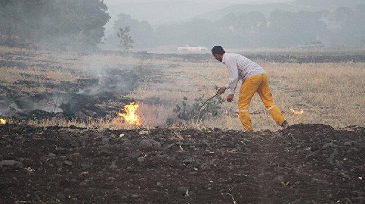 Altı farklı noktada çıktı 15 hektar alanı küle çevirdi