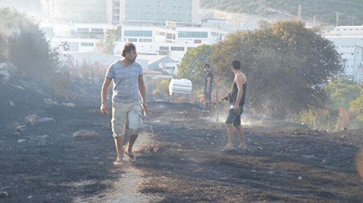 Bodrumda faciadan dönüldü: Yangın metreler kala söndürüldü