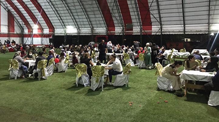 Giresunda dere taştı düğündeki 200 kişi mahsur kaldı