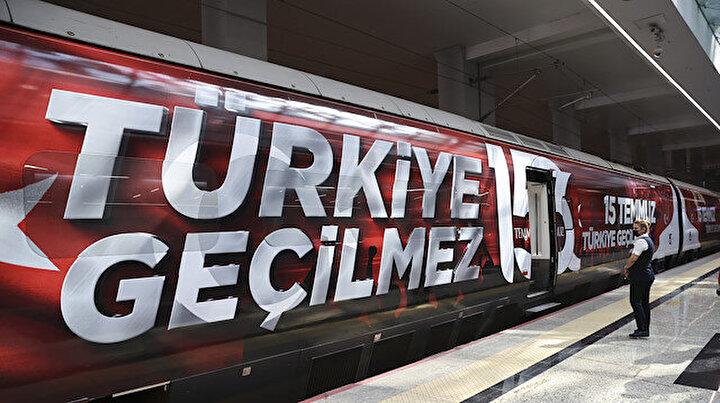 15 Temmuz Demokrasi ve Milli Birlik Treni Ankaradan İstanbul'a uğurlandı
