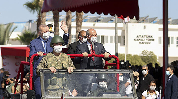Cumhurbaşkanı Erdoğan 20 Temmuz Barış ve Özgürlük Bayramı törenine katıldı