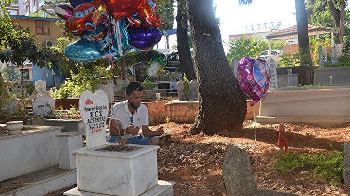 Çocuk mezarlarına balon bağlayan Sait Kocatepenin hikayesi yürekleri burktu