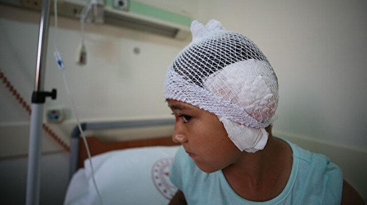 Balıkesirde başıboş pitbull dehşeti: 8 yaşındaki Reyyan kulağından oldu