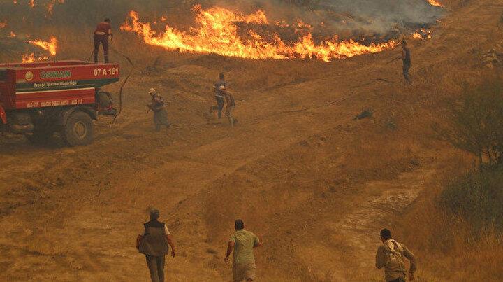 Mahallelerini yanmaktan böyle kurtardılar