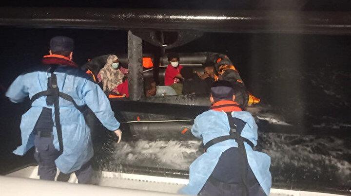 Yunanistan Türk sularına itti: Aralarında çocukların da olduğu 172 kişi kurtarıldı