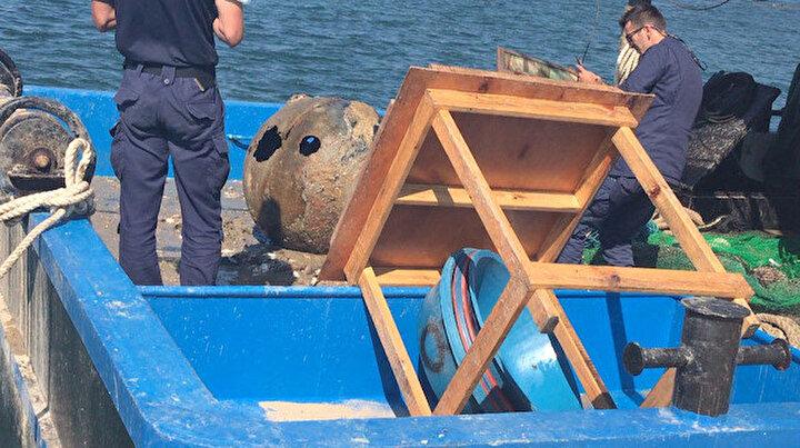 İstanbul Boğazında balıkçı ağına takıldı: Patlama olabilir diye komple sahili ve plajı kapattılar