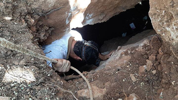 Fosseptik çukuru kazarken buldular: Üçe ayrılıyor 80 metre uzunluğunda