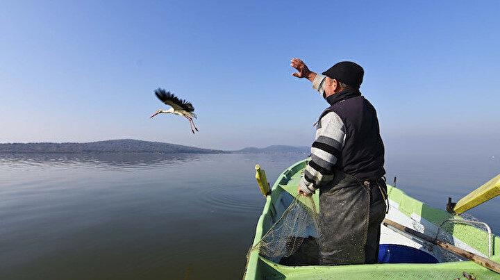 Yaren leylek 11inci kez Türkiyeden göç etti