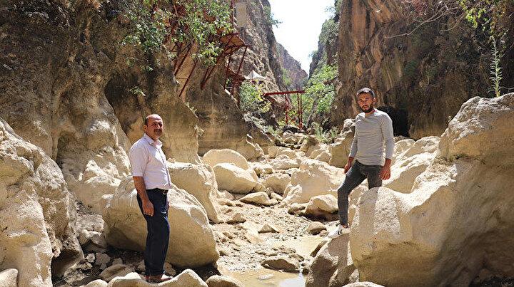 Çal Kanyonu ilk kez kurudu: İki metrelik su bulunuyordu